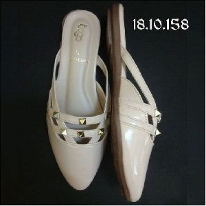 Ladies Beige Half Shoes