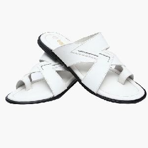 Synthetic White Formal Slipper