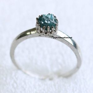 Diamond Sterling Silver Engagement Ring