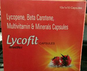 Lycopene, Beta Carotene, Multivitamin & Minerals Capsules