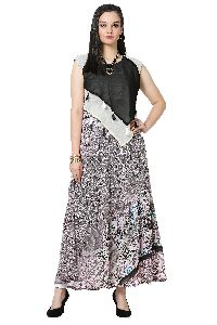 Multi Layered Designer Georgette Kurti