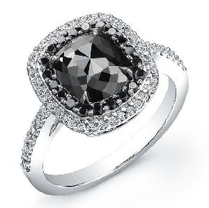Natural Black Diamond Ring