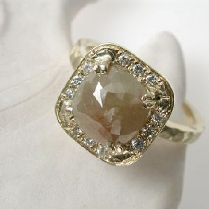 Natural Rough Diamond Ring