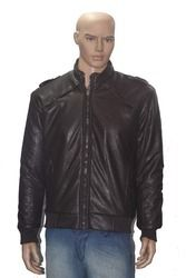 Men Leather Black Jacket