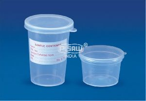 Sample plastic Container