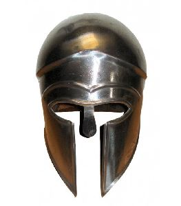 Black Greek Ancient Corinthian Helmet