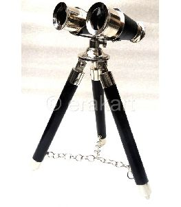 Brass Binocular In Chrome Finish