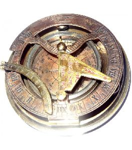 Nautical Gilbert Son London Brass Sundial Compass