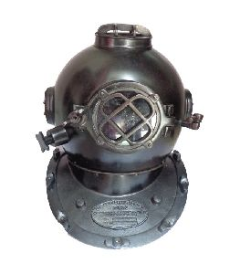 Iron Antique Black Navy Diving Helmet