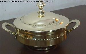BRASS STEEL SERVING HANDI