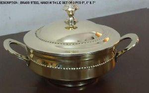 Brass Steel Serving Handi