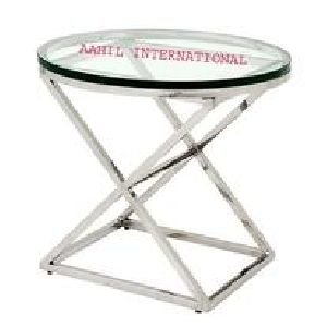 Conrad Side Table Round Stainless Steel