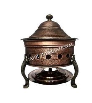 Copper Antique Hawa Mahal Chafing Dish