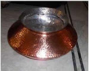 Copper Biryani Handi Hammered Inside Tin Plating