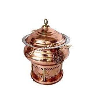 Copper Hyatt Handi Chafing Dish Hammered