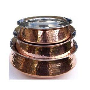 Copper Steel Lagan Handi Hammered