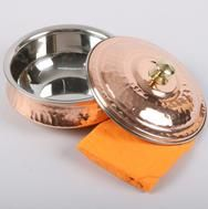 COPPER STEEL LAGAN HANDI HAMMERED WITH LID