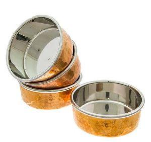 Copper Steel Pickle Katori Hammered