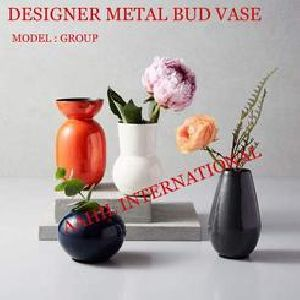 Designer Metal Bud Vase