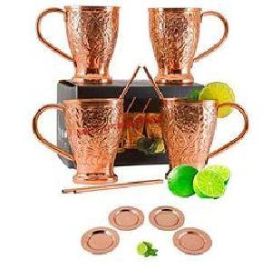 Engraved Copper Mule Mug