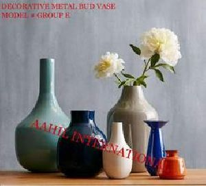 Metal Flower Vase Enamel