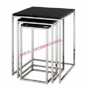 Nesting Side Table Square with Marble Top