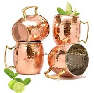 Real Copper Mugs with Silver Inside