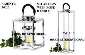 Rope Handle Stainless Steel Lantern
