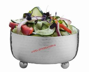 Serving Bowl Stainless Steel Classic Hammered Silver