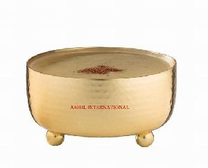 Serving Bowl Stainless Steel Classic Hammered Gold