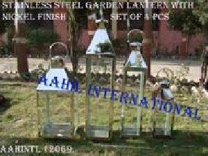 Silver Shiny Stainless Steel Lantern