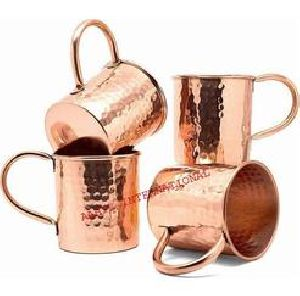 Solid Hammered Real Copper Tankard