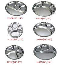 Stainless Steel Round Compartment Tray