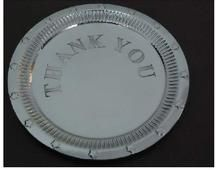 Stainless Steel Thank You Plate