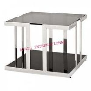 Treasure Side Table Stainless Steel with Marble Top