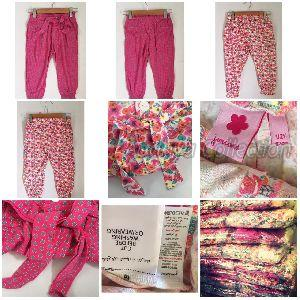 Girls Party Wear Pant with Adjustable Rope