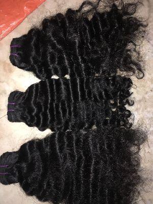 Virgin Single Drawn Natural Curly Hair 02