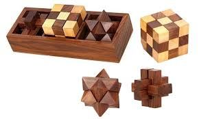 Wooden Puzzle Games Set