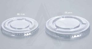80mm / 95mm Flat Lid with Straw Cut / without Straw cut