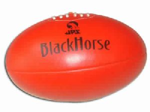 Leather Aussie Rule Foot Ball/Black Horse