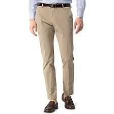 Mens Beige Cotton Trouser