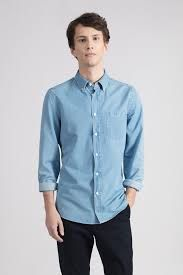 Mens Plain Denim Shirt