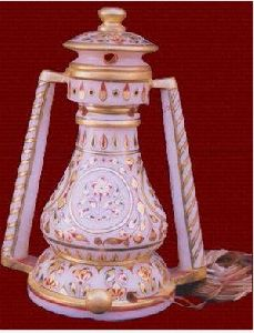 Antique Carved Marble Lamp