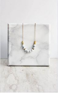 Round Beaded Marble Necklace