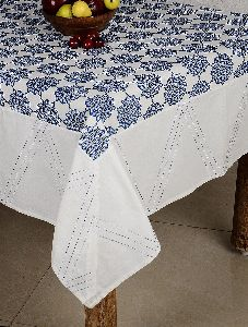 Kantha Work Cotton Hand Block Printed Table Cover