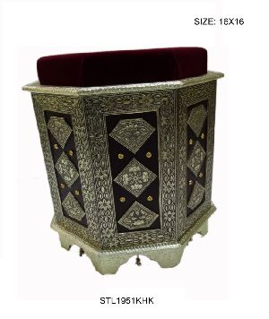 Decorative Wooden Stool 01