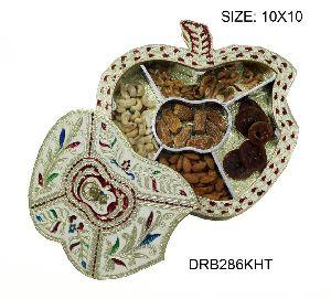 Fiber Meenakari Dry Fruit Box 04