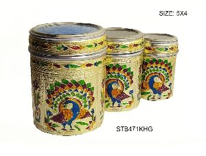 Decorative Steel Tea Box 01