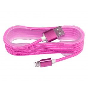 Charging Cotton braided cable Pink