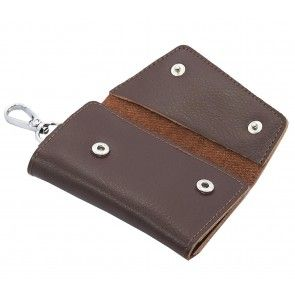 Leather Key Case Wallets Keychain
